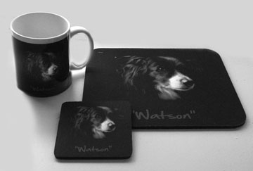 """Watson"" on a Mug, MOuse Pad and Coaster (click to enlalrge)"